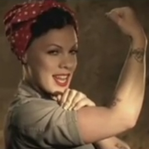 Pink-raise-your-glass-rosie-riveter